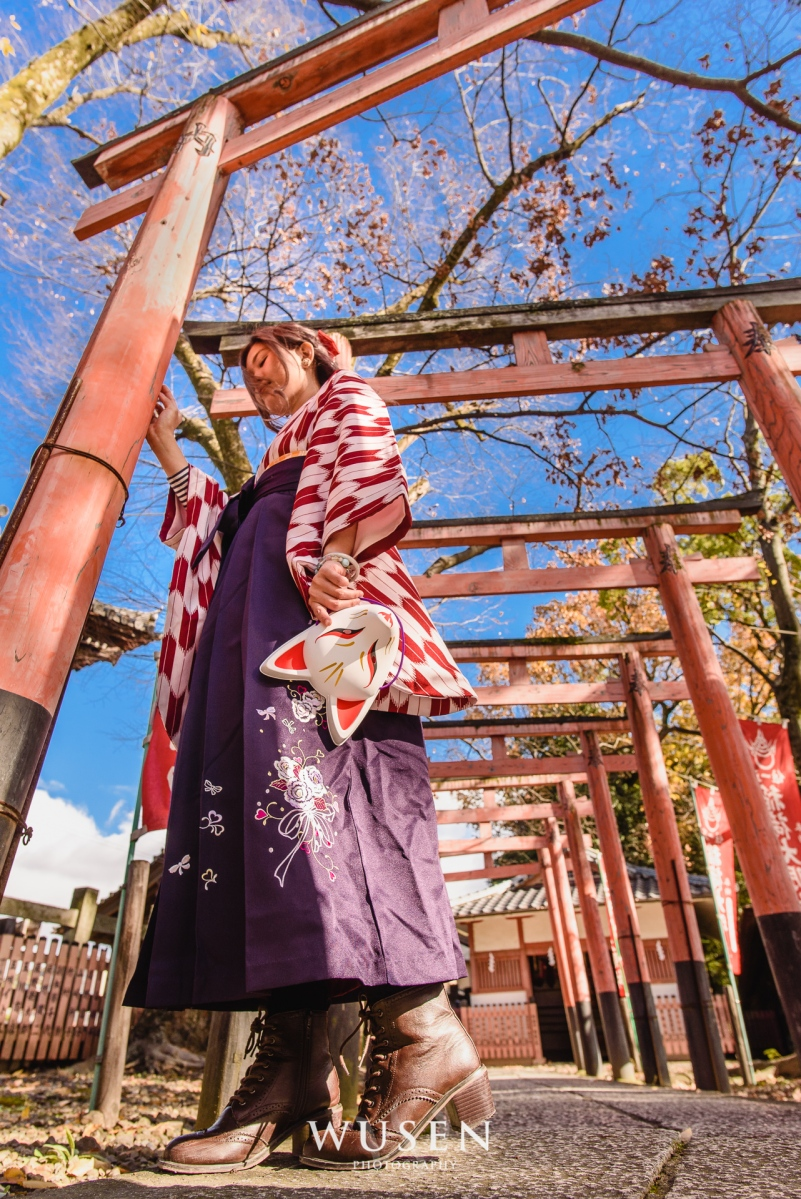 青春無敵 振袖袴 日本畢業季服裝 少女限定! 宛如動漫主角般的京都單人旅行 豊国神社 西本願寺 Kimono with hakama photoshooting in Kyoto, Cucuru kimono rental