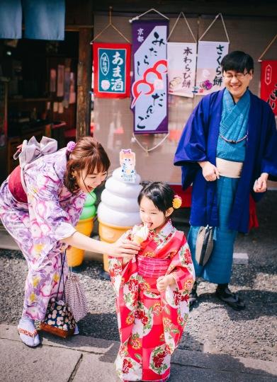 京都親子和風和服拍照