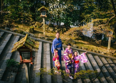 親子遊京都,體驗和服外拍