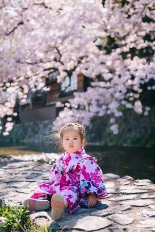 京都櫻花祭,親子和服寫真