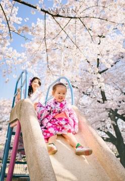 京都樱花祭,亲子和服跟拍