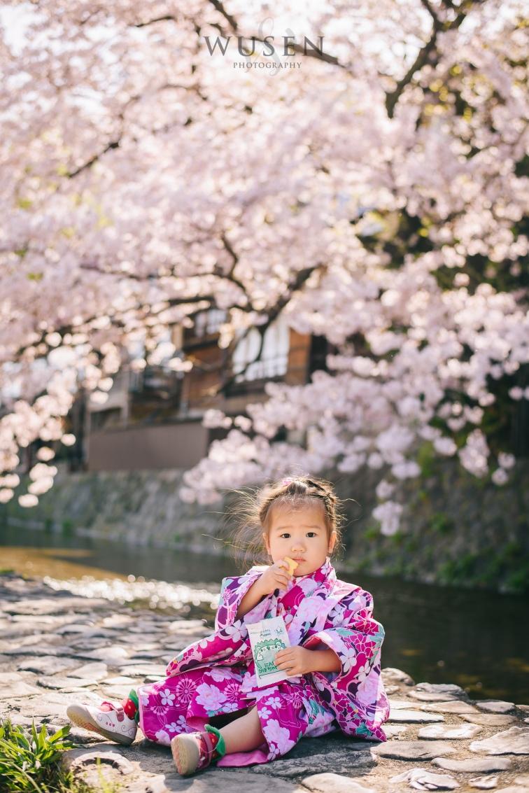 京都亲子游,和服外拍摄影