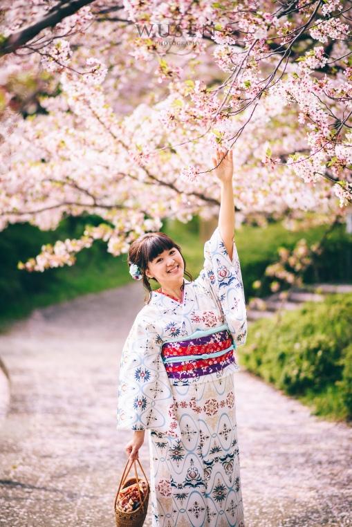 京都櫻花祭,和服寫真攝影