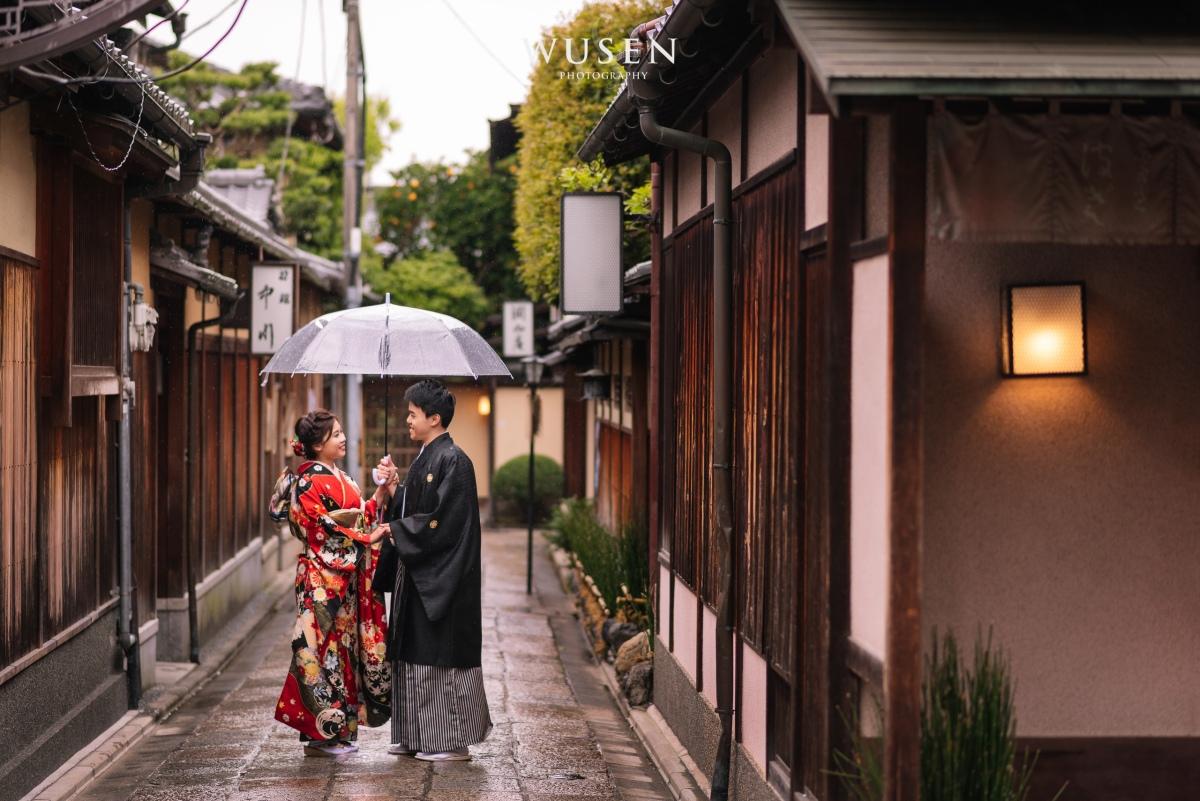 兩人的京都和服婚紗 振袖寫真 春季八重櫻與山吹季節 京櫻KyoSakura和服