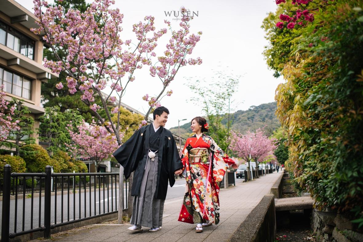 京都櫻花, 和服婚紗