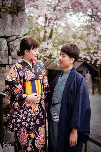 京都和服婚纱攝影師,樱花祭,三千院