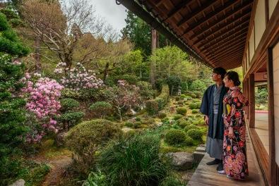 京都和服外拍,和服写真,三千院