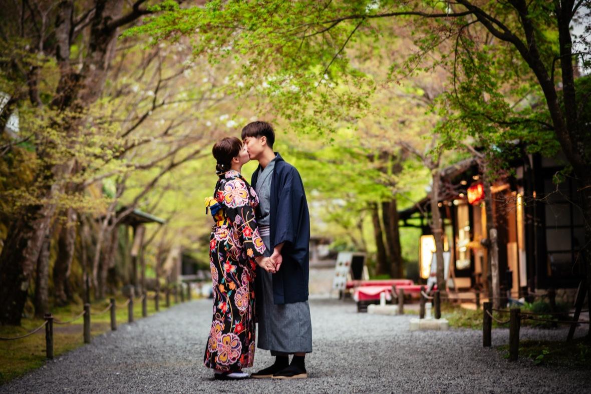 京都和服婚紗,三千院
