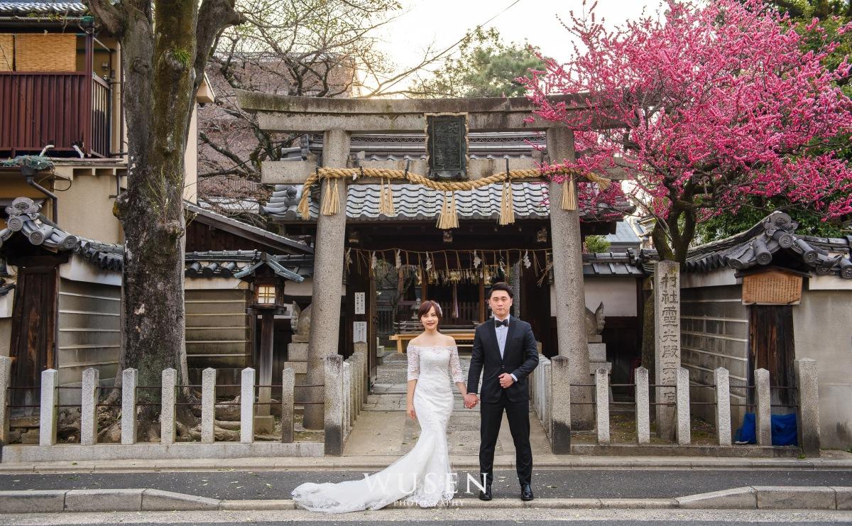 京都清新婚紗 和服白紗私服輕婚紗攝影之旅 Kyoto prewedding